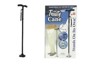 Wholesale 2016 Trusty Cane Trekking Poles LED Light Foldable Triple Head Pivot Base Hurry Secure with Package Box