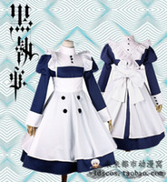 Wholesale Black bulter Meyrin Sailor suit cosplay costume maid dress