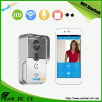 Wholesale Home Security Smart Wifi Doorbell use G G cellphone control answer snapshot and recording Motion Detect support AS WD02
