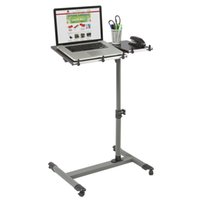 Wholesale Rolling Laptop Table W Tilting Tabletop Desk TV Food Tray Hospital PC