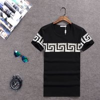 Wholesale 100 Cotton T shirts Shorts Sleeve O Brand Design Summer male Tops Tees printed t shirts luxury brand men s render unlined upper garment