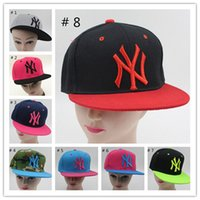 Wholesale Snapbacks NY Caps Casual Cartoon Unisex Baseball Cap Cotton Hunting Hat Outdoor New York Sports Flat Hat Fashion NY Hats Casquette
