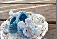 Summer baby aqua shoes - 100 handmade newborn Loafers Aqua Blue Baby Bunny Ears Crochet Baby Booties spring baby walking shoes cartoon toddler shoes pairs