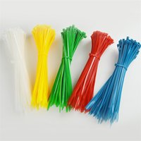 Wholesale Color cable ties mm cable with cablStrapping Tapes self locking cable ties Nylon Cable tie plastic strap ties seal effect blockade