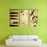 Wholesale LK3185 Panel Classica Piano And Musical Note Oil Painting for Modern Living Room Home Decoration Print on Canvas Giclee Artwork for Wall