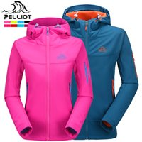 backpacking clothing - Pelliot Brand Outdoor Softshell Jacket Men Waterproof Polartec Fleece Mountain Clothe Backpacking Hiking Softshell Jacket Women