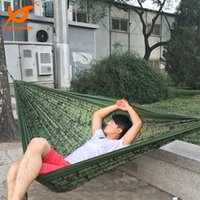 army camouflage bedding - New kgs x180cm Two Person Travel Camping Outdoor Nylon Fabric Hammock Parachute Bed for Camouflage Army