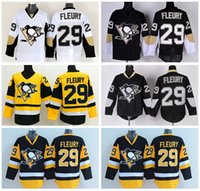 andre for men - Pittsburgh Penguins Throwback Andre Fleury Ie Hockey Jerseys Retro For Sport Fans Team Color Black White Yellow Embroider Logo