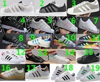 Wholesale 1 Originals Superstar s DLX SU White Hologram Iridescent Junior Superstars Sneakers Super Star Suede Women Men Sport Running Shoes