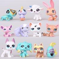 achat en gros de animal jouet poupée-2016 Hot New Kids Toys Cartoon Palace Animaux Petshop Poupées 12Pcs / Set Figurines d'action en plastique Juguetes Brinquedos Livraison gratuite