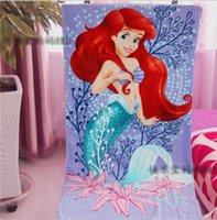 beautiful bath towels - Beautiful Mermaid Princess Bath Body Towel Soft Wearable Cotton Towel for kids adults baby bathroom textile Girl gifts CM