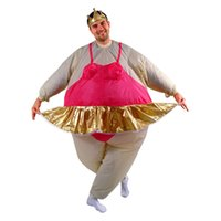 adult ballerina costumes - cosplay Inflatable Ballerina Dancer Costume Adult Polyester Halloween Costumes Inflatable Costumes Fancy Dress Fat Funny Suits