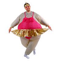 Polyeter ballerina halloween costumes - cosplay Inflatable Ballerina Dancer Costume Adult Polyester Halloween Costumes Inflatable Costumes Fancy Dress Fat Funny Suits