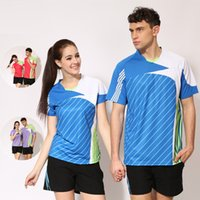 Wholesale C5 New male female casual sports tennis jerseys table tennis suit team travel Y