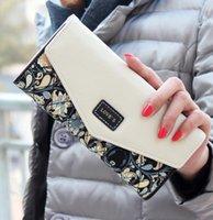 Wholesale Fashion Coin Purse Floral Women Wallet Colors Flower Long Wallets Popular Change Purse Delicate Casual Lady Cash Purse