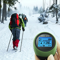 Wholesale Mini GPS Receiver Navigation Tracker Handheld Location Finder Tracking with Compass for Outdoor Sport Travel