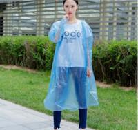 Wholesale disposable boys raincoats Fashion pvc raincoat online plastic raincoat Rainwear Travel Rain Coat Rain Wear