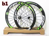 Wholesale Green White logo of FFWD F5R mm carbon road bike wheels mm width K mm road bike carbon wheelset