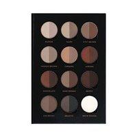 Wholesale 12pcs NEW Ana BROW PRO PALETTE PROFESSIONNELLE POUR SOURCILS Brow Powder Double Colors Eyebrow Shadow Makeups