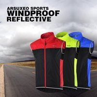 Wholesale ARSUXEO Men Ultrathin Lightweight Bicycle Vest Windcoat Breathable Bike Sleeveless Vest Cycling Sportswear Roupa Ciclismo Y2204