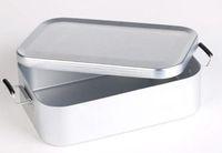 Wholesale Outdoor aluminum boxes tableware ultra light alumina lunch box aluminum mealbox