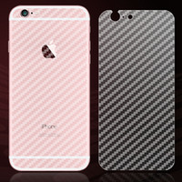 Wholesale For iphone full body D carbon fiber sticker Back side sticky skins APPLE cut protector films for iphone plus cover