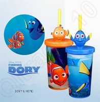 sippy cups - Finding Nemo Water Cup Cartoon Movie Drinkware travel cup Dory Nemo cup baby Children sippy straw cups ml Cup With box OOA144