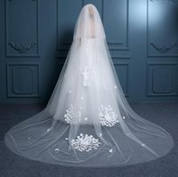balance editions - New trailing han edition bridal veil long veil stereo flower tow balance payment veil wedding accessories