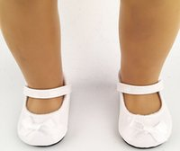 ballet shoes for dolls - factory price Environmental protection quot INCH DOLL SHOES for AMERICAN GIRL black white ballet shoe b238