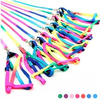 Wholesale Cheap pet supplies factory direct colorful colorful pet traction rope leash dog harness traction supplies