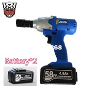 Wholesale 58v mAh mini rechargeable lithium battery Cordless Electric impact wrench hand drill hammer hammer installation power tool