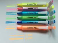 Wholesale 6pcs stabilo colors swing cool Highlighter anti dry out oblique marker pen marcador fluorescente surligneur textmarker