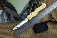 alloy steel tool - Liangjiang newest Marfione Microtech HALO IV Rev III S N Elmax blade material aluminum handle camping hunting knife survival tool EDC
