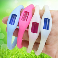 Wholesale Anti Toxic Anti Insect Bug Mosquito Repellent Bracelet Wristband Band For Children Adults WA0879