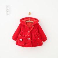 beaded trench coats - 2016 winter baby coat korean fur kids coat high grade beaded baby trench coat Y ysr10172