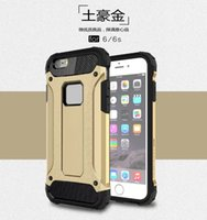 Wholesale Dual Layer TPU Bumper PC Hard in Strong Armor Case Full Body Protection for iphone s plus s Plus SE