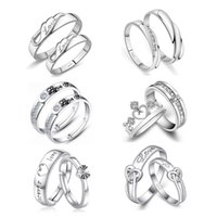 Wholesale 2106 New sterling Silver lover couple Ring for men and women multistyle color can select