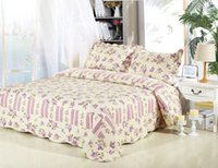 Wholesale JESSY HOME Textile Reversible Quilted Coverlet Set Patchwork quilts Flower Printing comforter set Queen King size