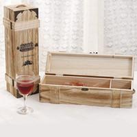 antique wine case - Single bottle wooden wine box Wine case Red Wine packaging bottle gift box Wine Home Furnishing Wine storage box
