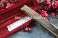 Wholesale quality silver famous brand professional harmonica c tone wide vocal range accent holes harmonica mouth organ