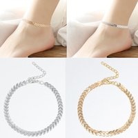 Cheap Ladies Silver Gold Ankle Bracelet Chain Adjustable Anklet Foot Charm Snake Chain