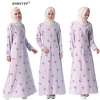 beautiful abayas - Dubai Islamic Jubah Islamic dress Evening Dress Flower Printing Ramadan Maxi Dress Beautiful Girl Muslim Casual Abaya kaftan