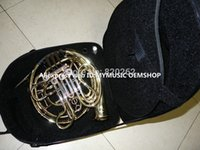 Wholesale New Arrival Professional CTE key Double French Horn Gold Brass High Quality withcase