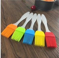 bbq cooking utensils - Candy Colorful Silicone Bakeware Basting Brush Pastry Bbq Brush Oil Brush Cream Brushes Cake Utensil Bread Cooking Brand Good Quality