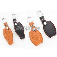 amg smart car - Genuine Leather Car Key Case Cover Mercedes Benz W203 W210 W211 amg W204 C E S CLS CLK CLA SLK Smart Car Keychain
