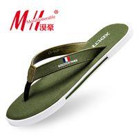beach comfort - Flip Flops Men Sandals Summer Shoes For Casual Walking Seaside Beach Breathable Slides Men s Brand Designer Comfort Flats