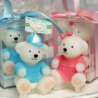 Wholesale 2016 new special gift for Child Birthday Party Flameless Candles Sweater Bear Cartoon Little candle gift
