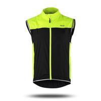 Wholesale New Cycling Sportswear Men Jerseys Cycle Clothing Windcoat Breathable Bike Jacket Sleeveless Vest Colors