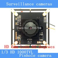 Wholesale 1 MP mm Pinhole camera HD quot CMOS image sensor FH8526 H42 TVL CCTV night vision camera module chip board with
