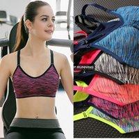 Wholesale 2016 hotsale factory direct Women sexy girls Yoga Fitness Stretch Workout Tank Top Seamless Racerback Padded Sport Bra